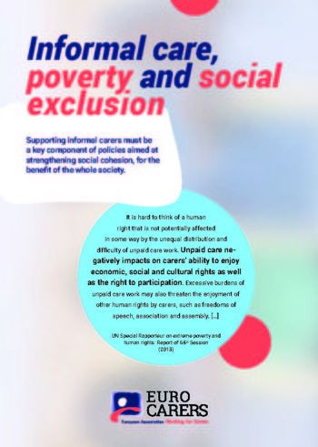 Informal Care, Poverty And Social Exclusion