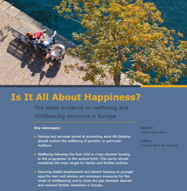 Is It All About Happiness? The Latest Evidence On Wellbeing And Childbearing Decisions In Europe
