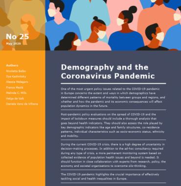 Demography And The Coronavirus Pandemic