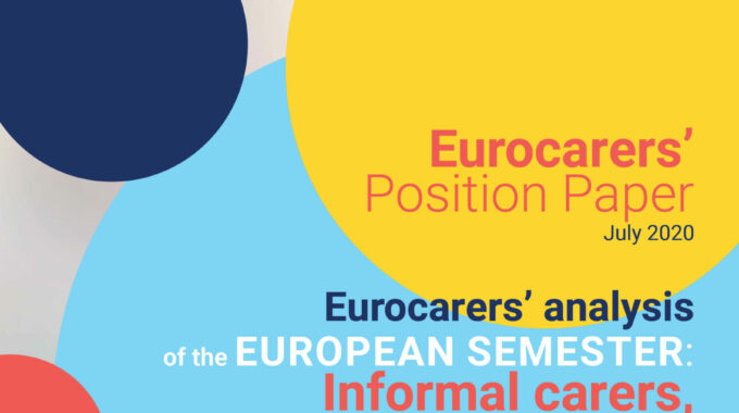 Eurocarers' Analysis Of The 2020 European Semester Is Out!