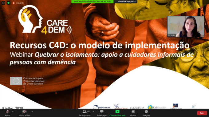 Care4Dem: 85 People Interested In The Dissemination Seminar In Portugal