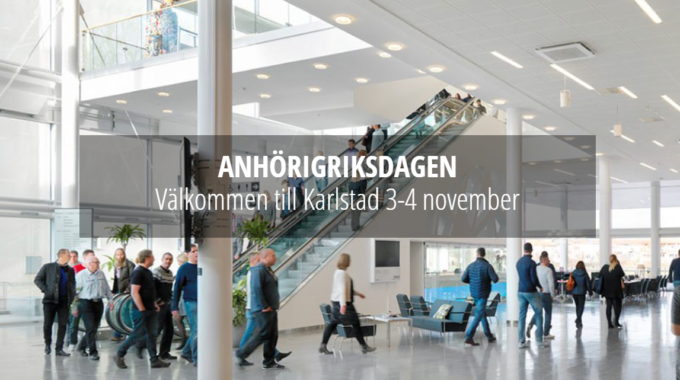 Invitation To Attend Anhörigriksdagen, The Largest Meeting for Informal Carers In The Nordic Countries