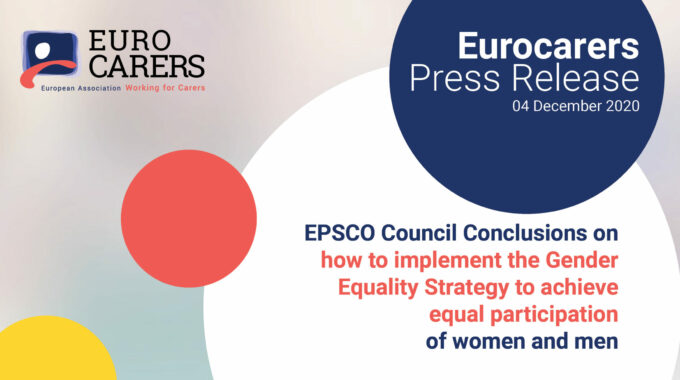 How To Implement The Gender Equality Strategy To Achieve Equal Participation Of Women And Men – Press Relase On The EPSCO Council Conclusions