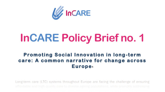 How To Promote Social Innovation In Long-term Care?