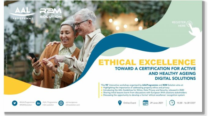 """Join Online Seminar """"Ethics And Privacy In AAL"""""""
